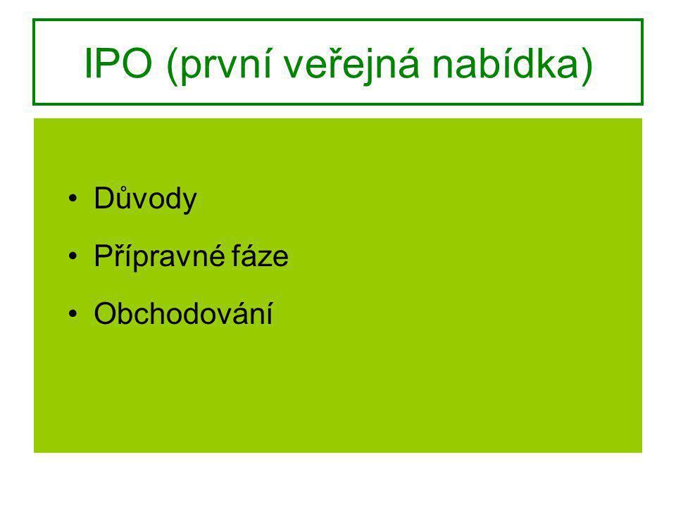 IPO (první veřejná nabídka)