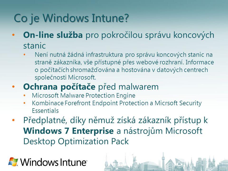 Co je Windows Intune On-line služba pro pokročilou správu koncových stanic.