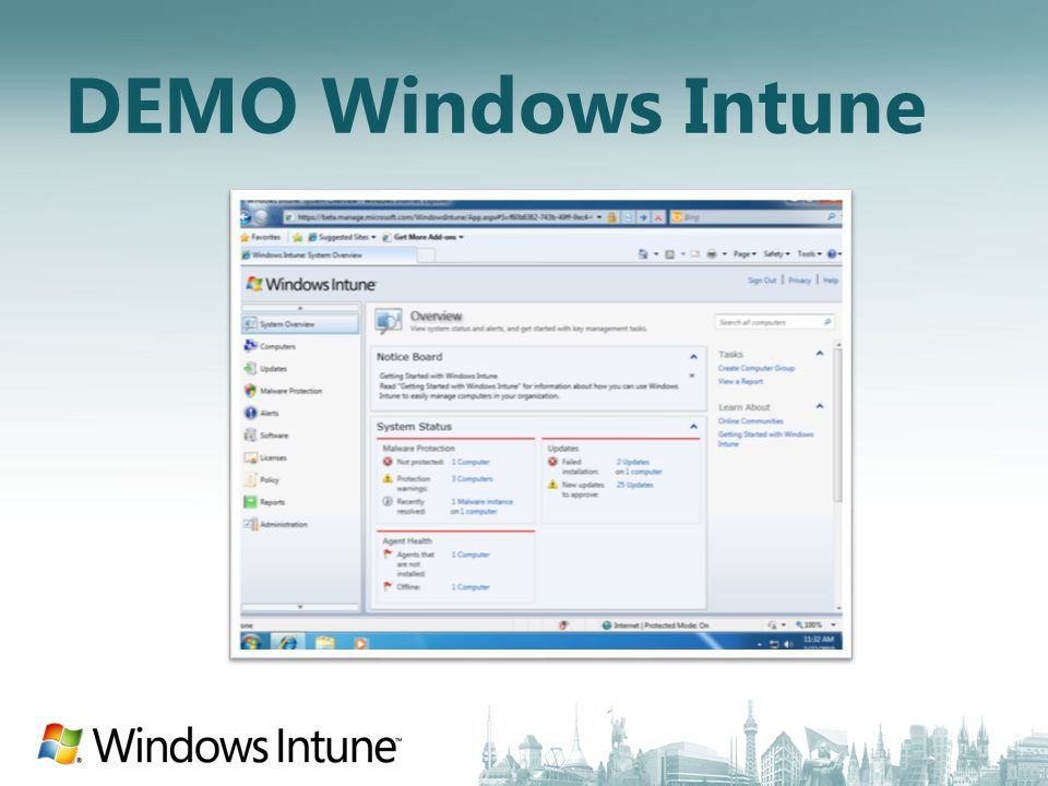 DEMO Windows Intune