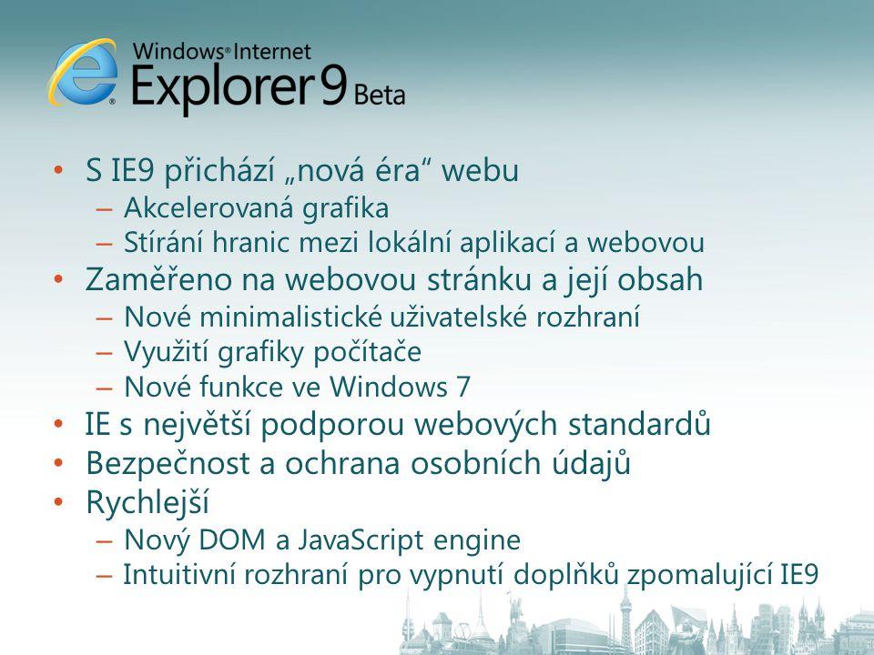 """S IE9 přichází """"nová éra webu"""