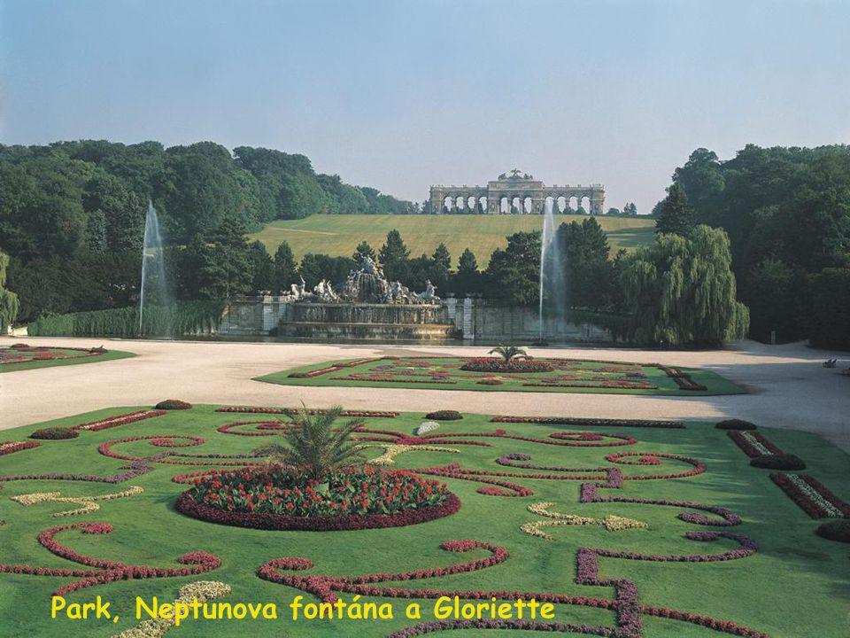 Park, Neptunova fontána a Gloriette