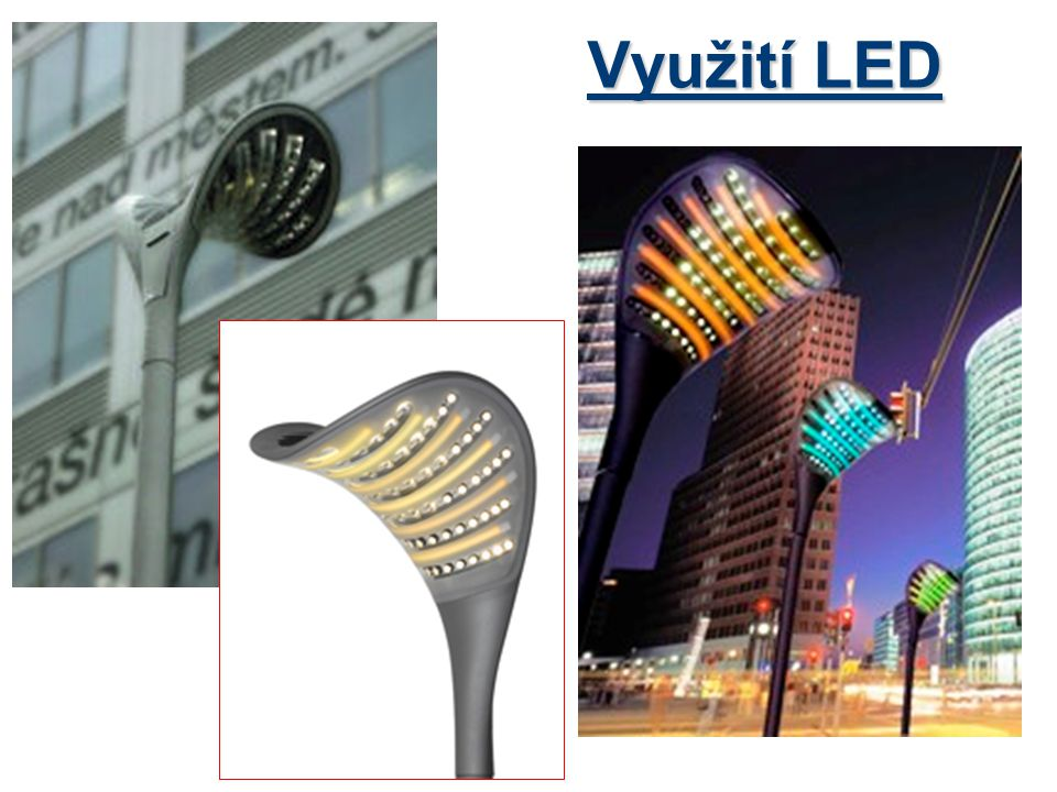 Využití LED
