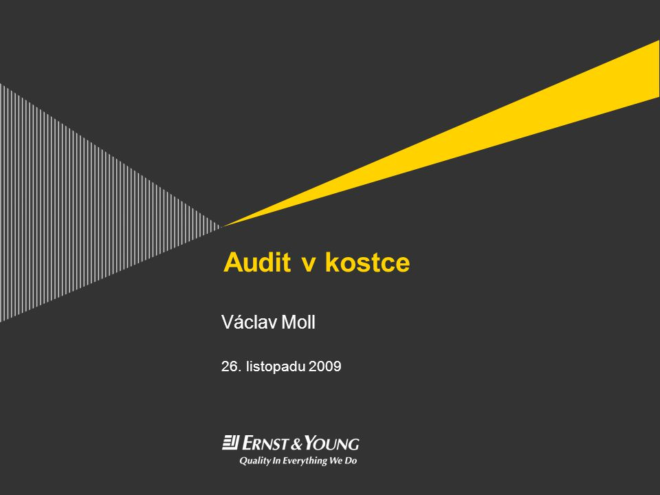 Audit v kostce Václav Moll 26. listopadu 2009