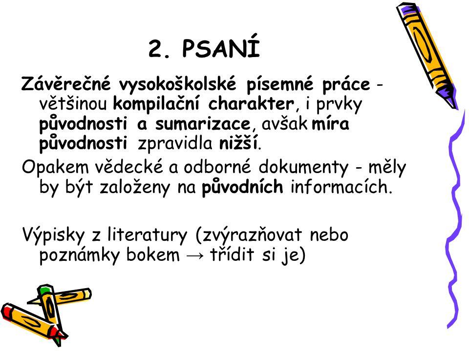 2. PSANÍ