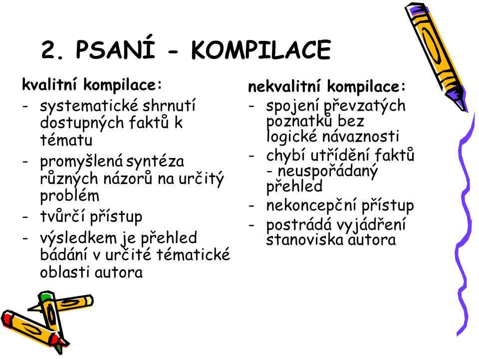 2. PSANÍ - KOMPILACE kvalitní kompilace:
