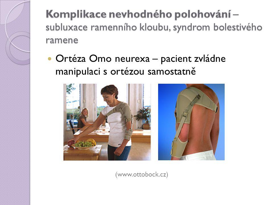 Komplikace nevhodného polohování – subluxace ramenního kloubu, syndrom bolestivého ramene