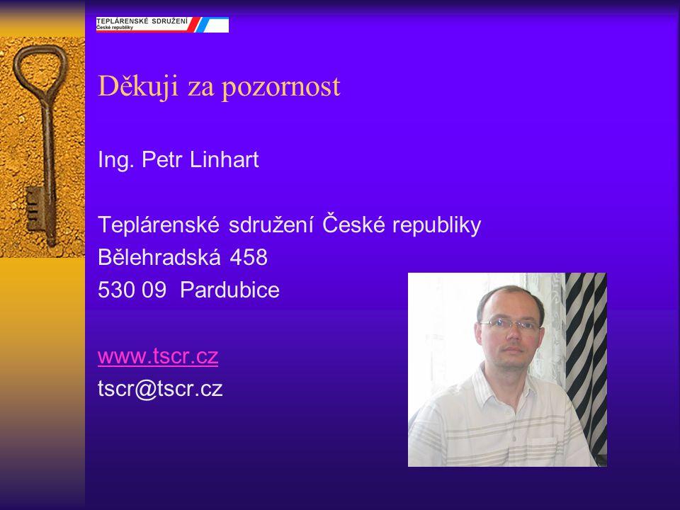 Děkuji za pozornost Ing. Petr Linhart