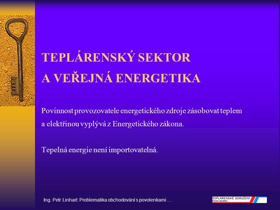 Ing. Petr Linhart: Problematika obchodování s povolenkami …