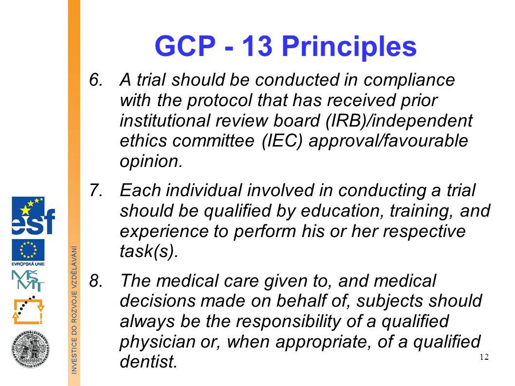 GCP - 13 Principles