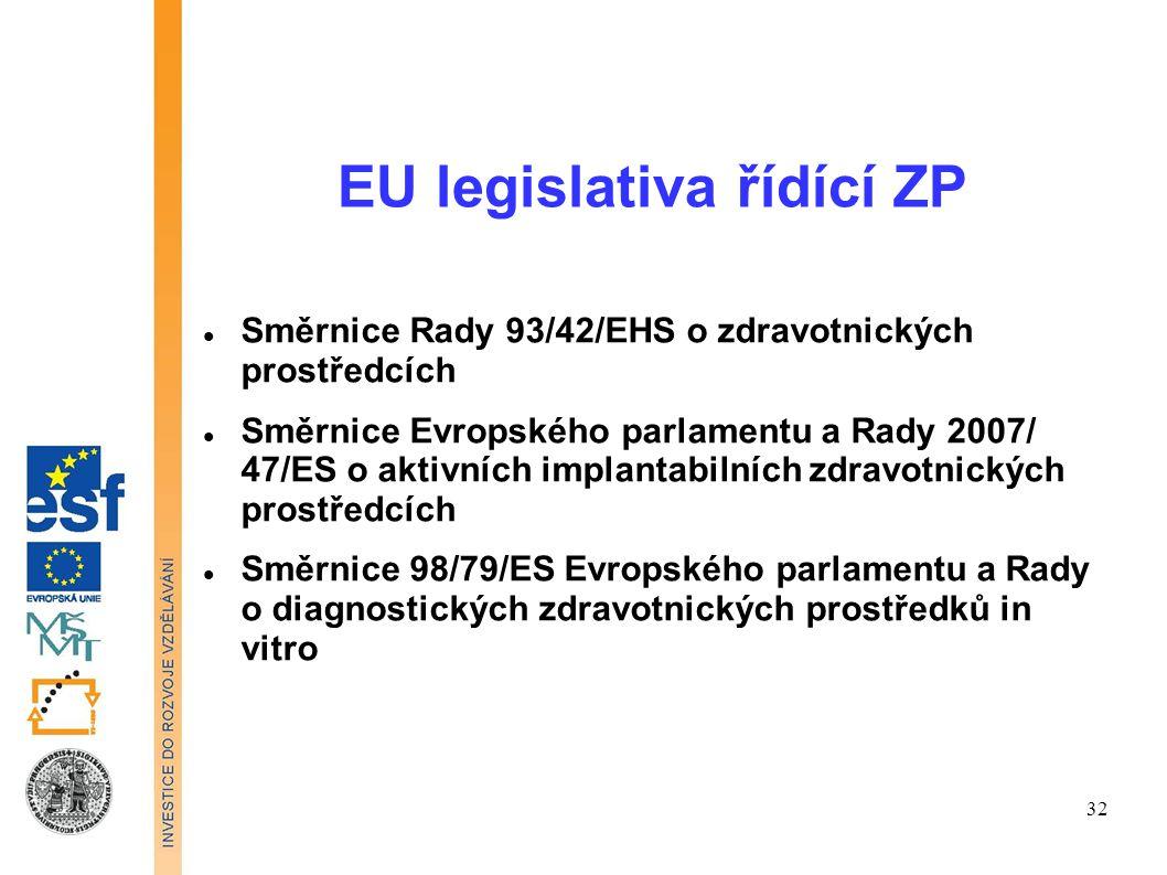 EU legislativa řídící ZP