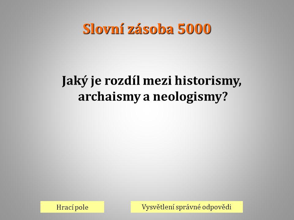 Jaký je rozdíl mezi historismy, archaismy a neologismy