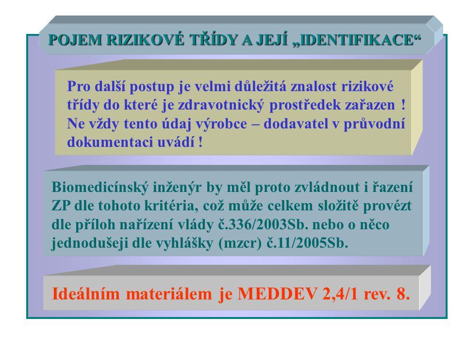 Ideálním materiálem je MEDDEV 2,4/1 rev. 8.