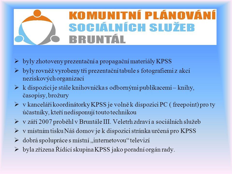 byly zhotoveny prezentační a propagační materiály KPSS