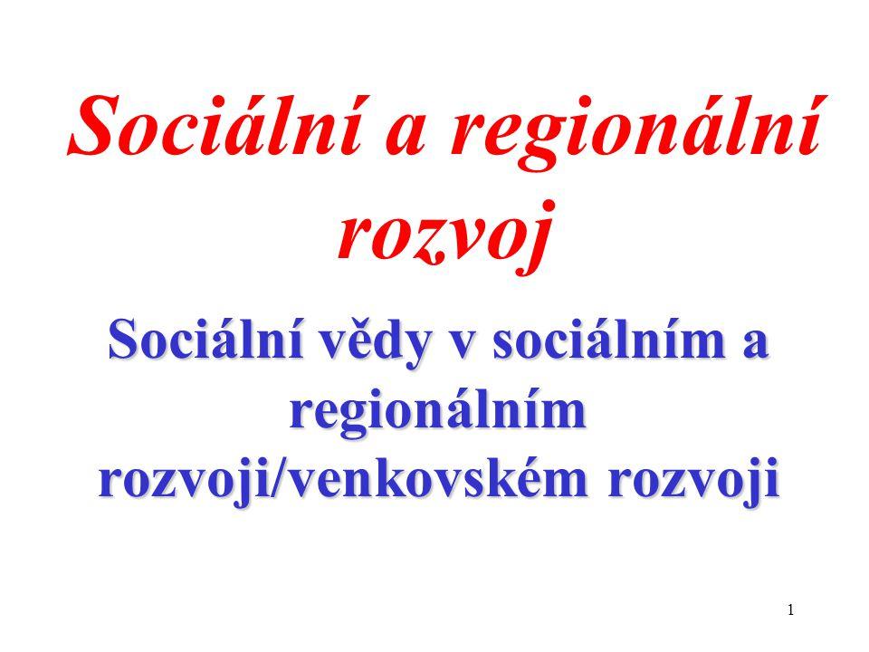 Sociální a regionální rozvoj