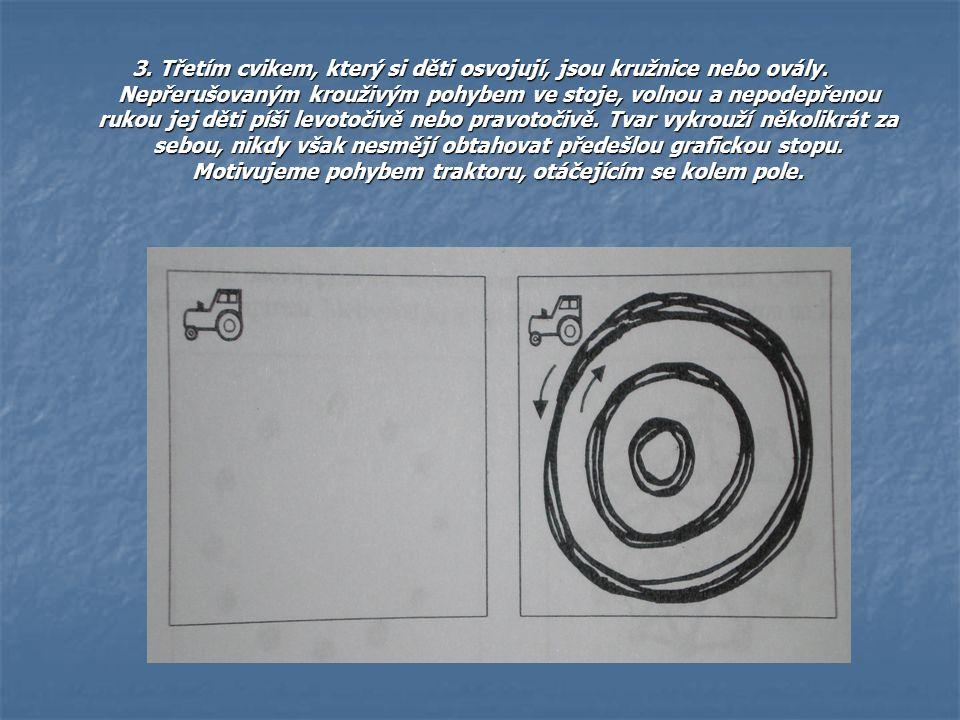 3. Třetím cvikem, který si děti osvojují, jsou kružnice nebo ovály