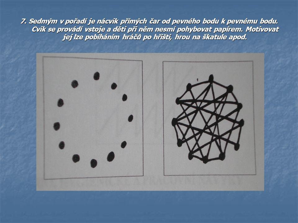 7. Sedmým v pořadí je nácvik přímých čar od pevného bodu k pevnému bodu.