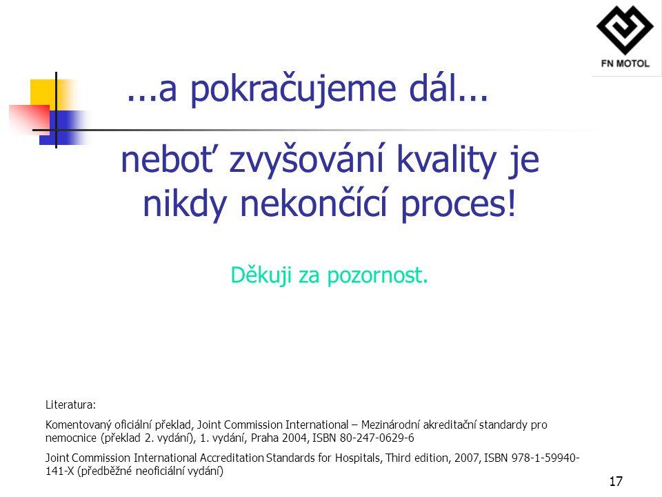 neboť zvyšování kvality je nikdy nekončící proces!
