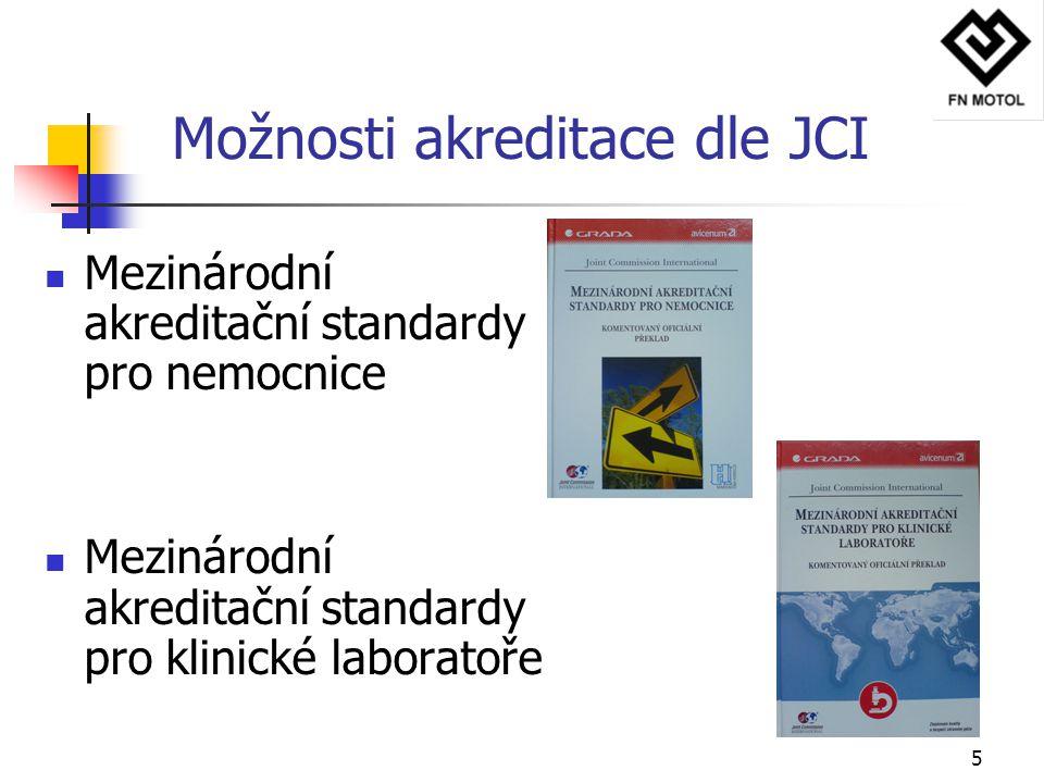 Možnosti akreditace dle JCI