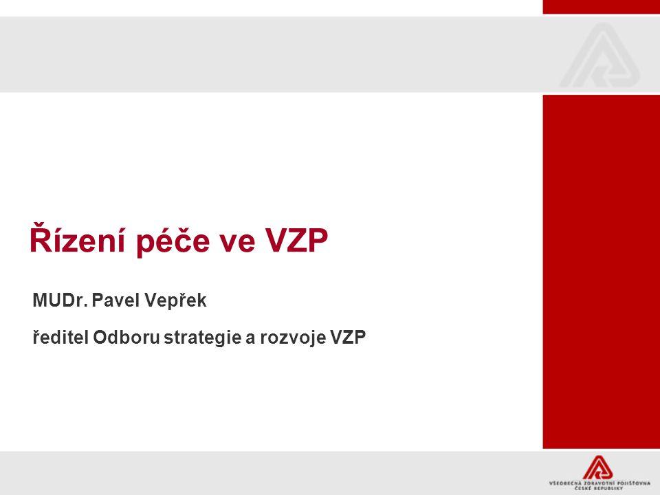 MUDr. Pavel Vepřek ředitel Odboru strategie a rozvoje VZP