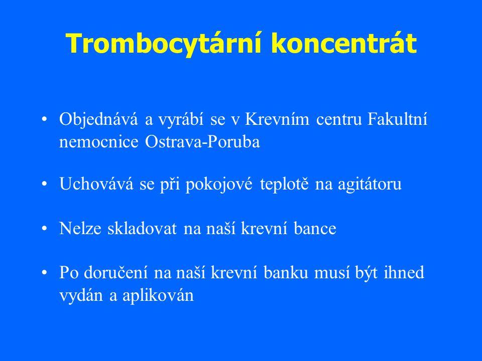 Trombocytární koncentrát