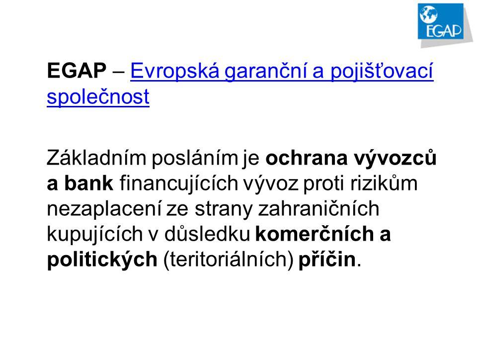 EGAP – Evropská garanční a pojišťovací společnost