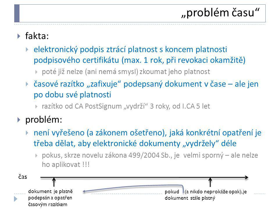 """""""problém času fakta: problém:"""