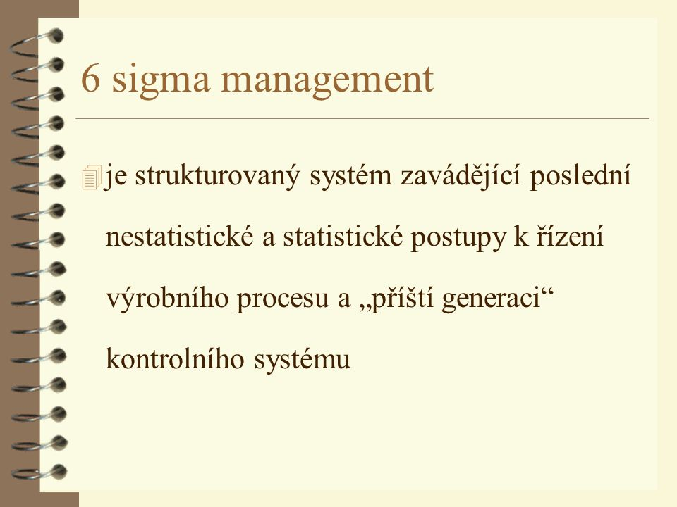 6 sigma management
