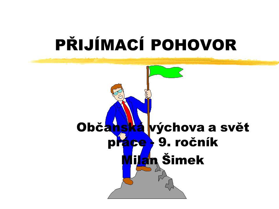 Občanská výchova a svět práce - 9. ročník Milan Šimek