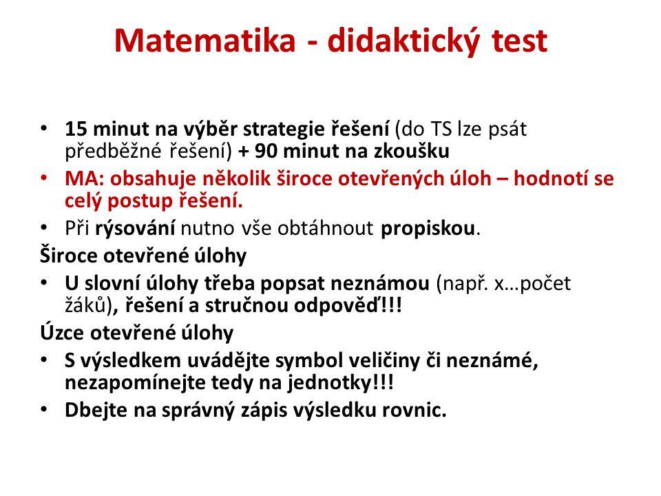 Matematika - didaktický test