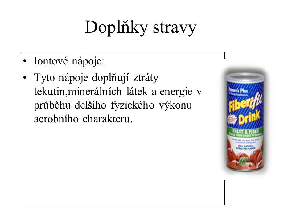 Doplňky stravy Iontové nápoje: