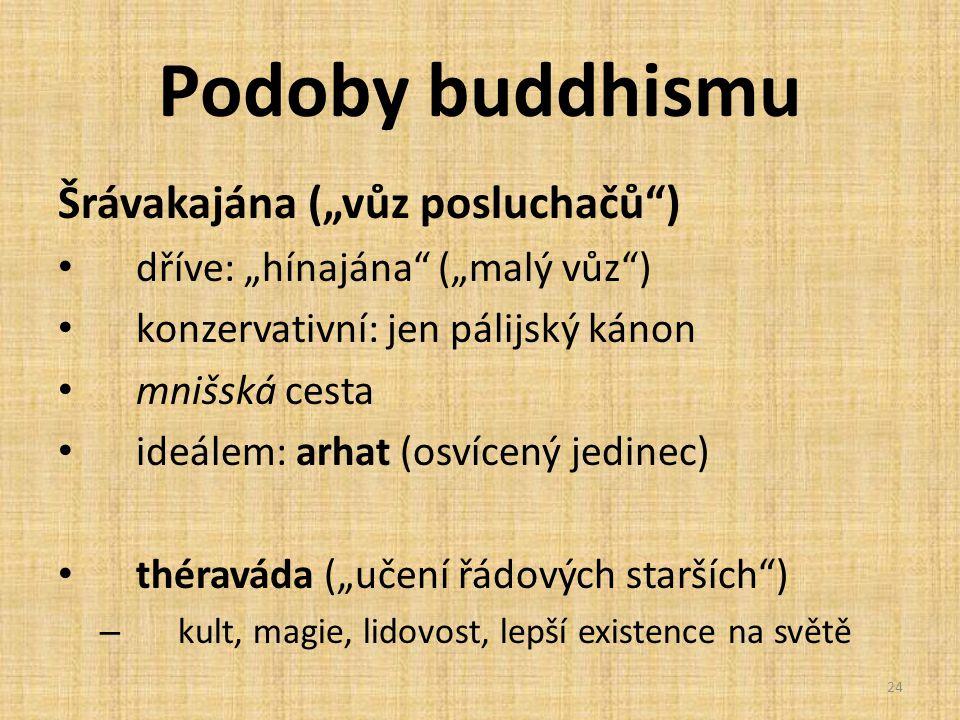 """Podoby buddhismu Šrávakajána (""""vůz posluchačů )"""
