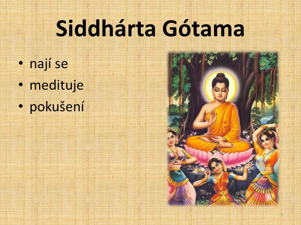 Siddhárta Gótama nají se medituje pokušení