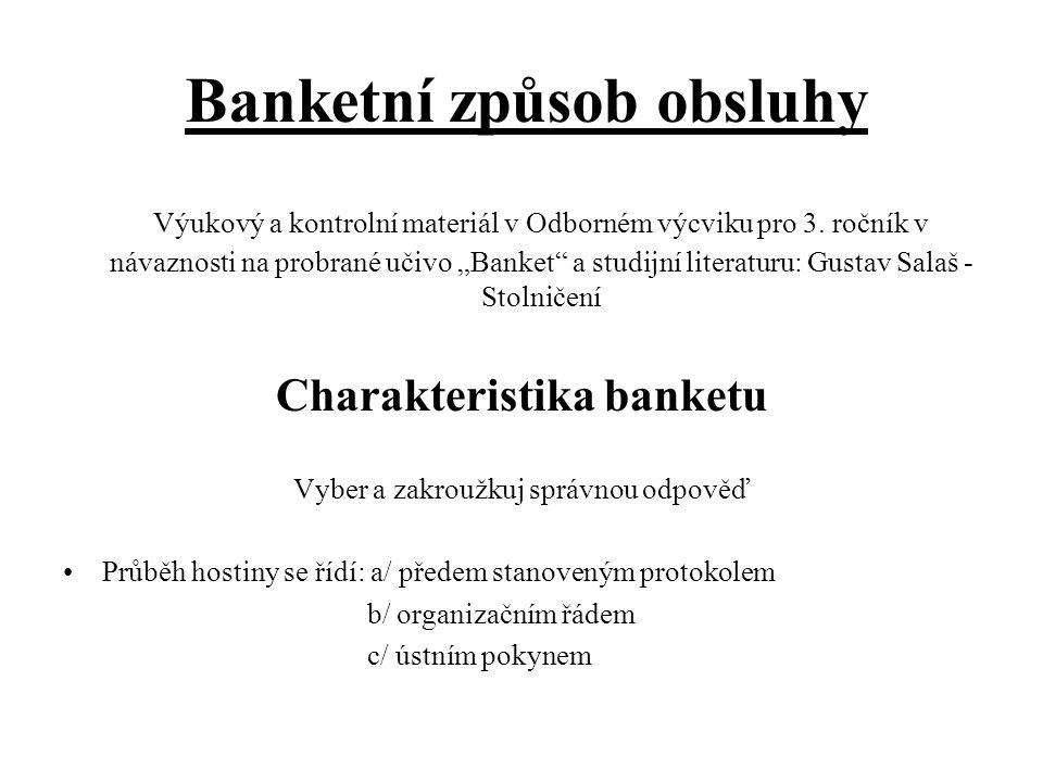 Banketní způsob obsluhy