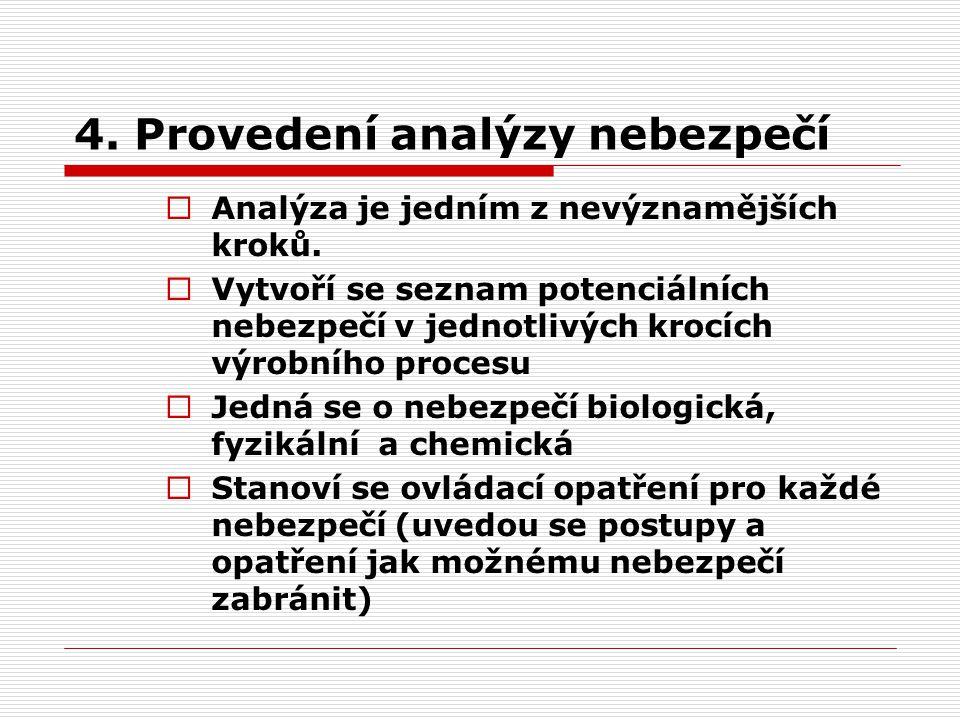 4. Provedení analýzy nebezpečí
