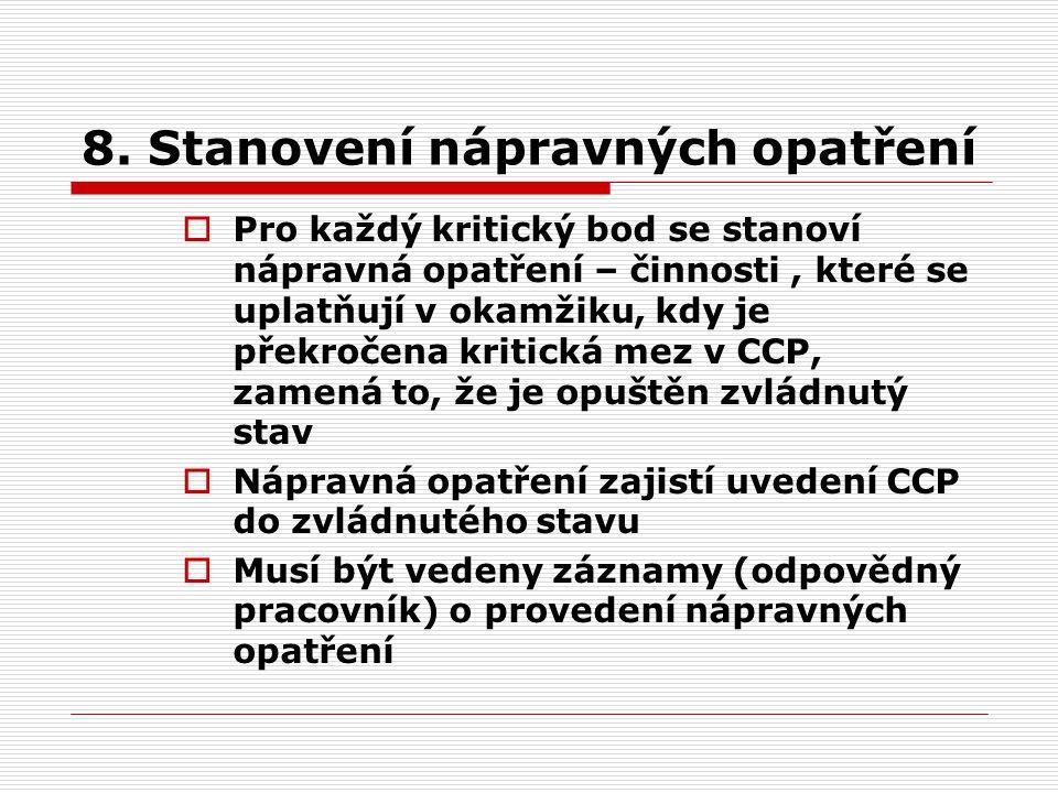 8. Stanovení nápravných opatření