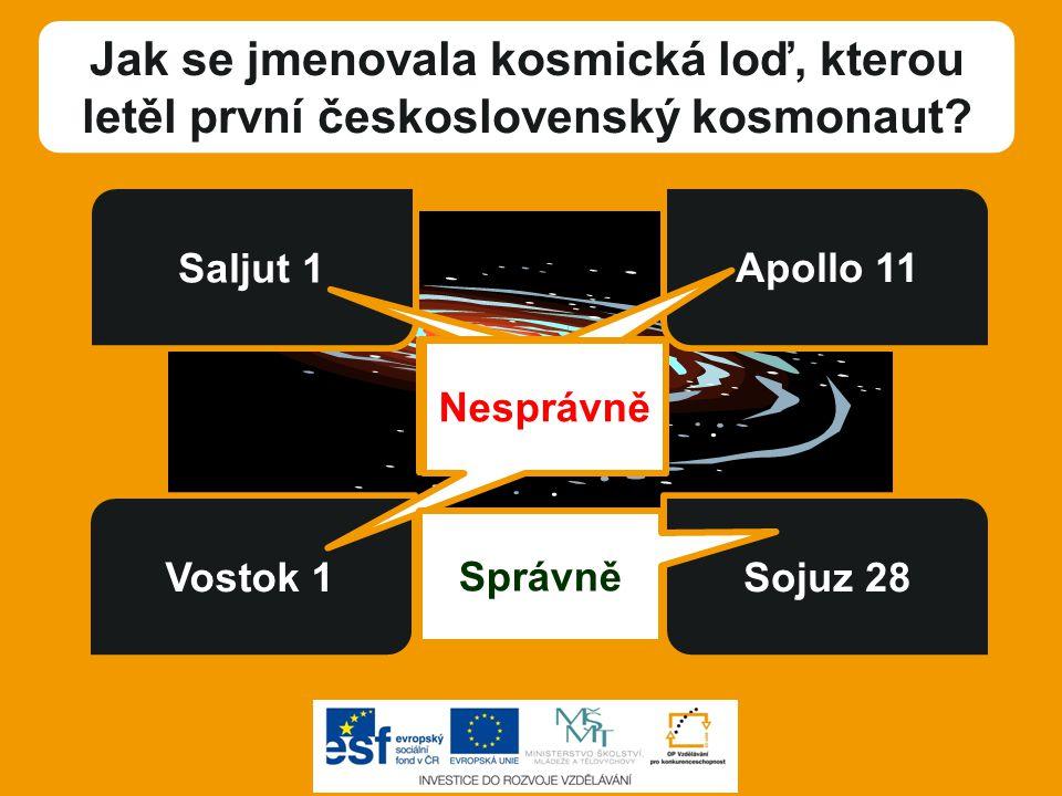 Jak se jmenovala kosmická loď, kterou letěl první československý kosmonaut