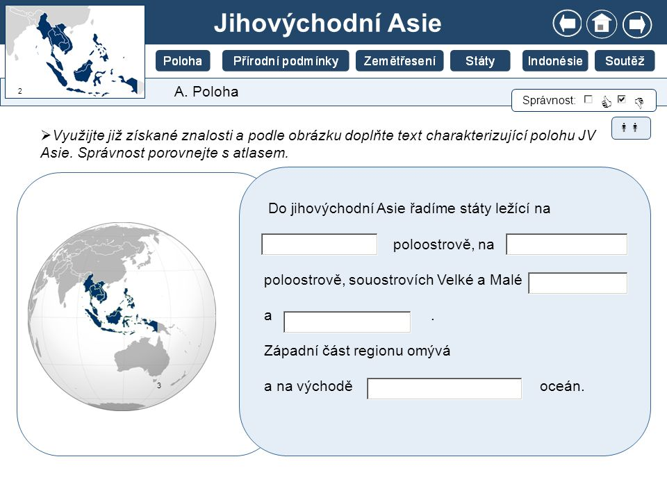 Jihovýchodní Asie   A. Poloha