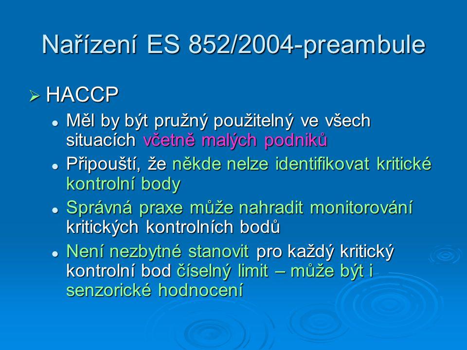 Nařízení ES 852/2004-preambule