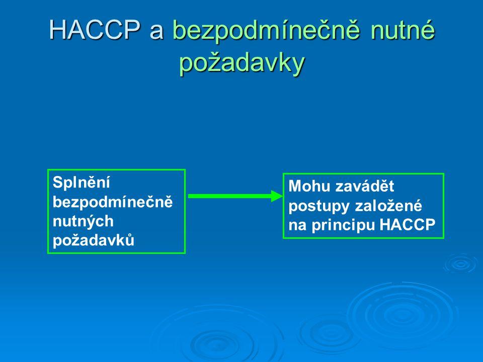 HACCP a bezpodmínečně nutné požadavky