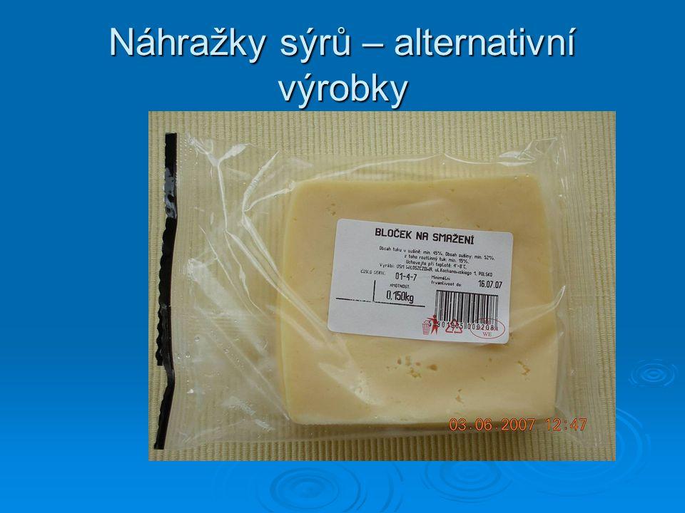 Náhražky sýrů – alternativní výrobky