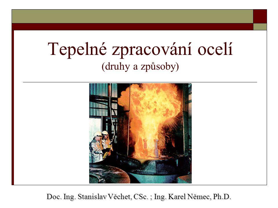 Tepelné zpracování ocelí (druhy a způsoby)