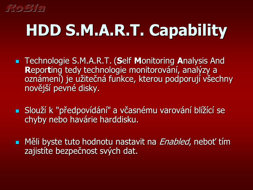 HDD S.M.A.R.T. Capability