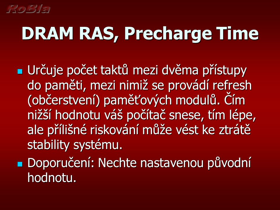 DRAM RAS, Precharge Time