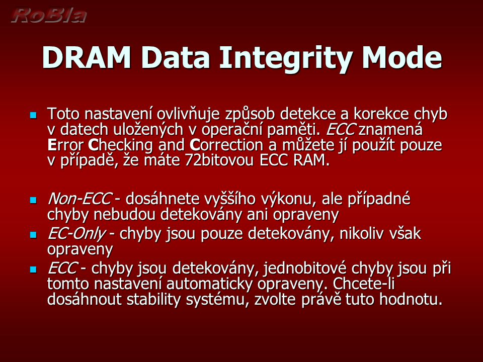 DRAM Data Integrity Mode