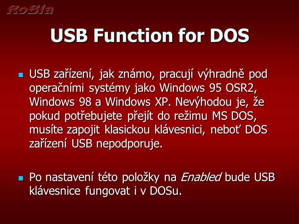 USB Function for DOS