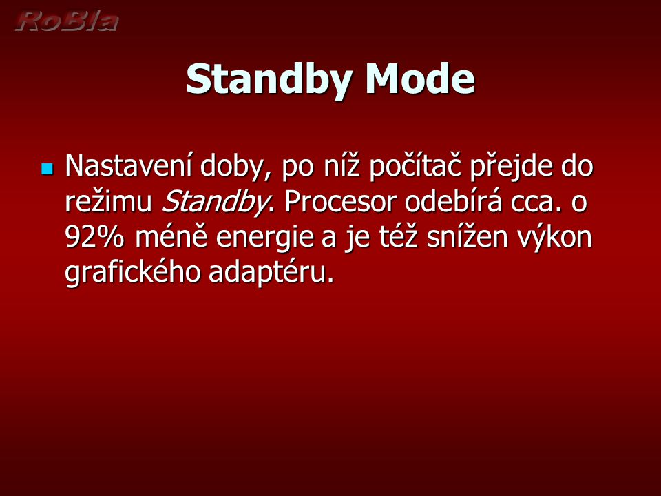 Standby Mode
