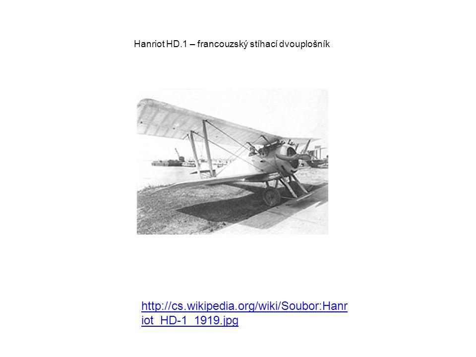 Hanriot HD.1 – francouzský stíhací dvouplošník