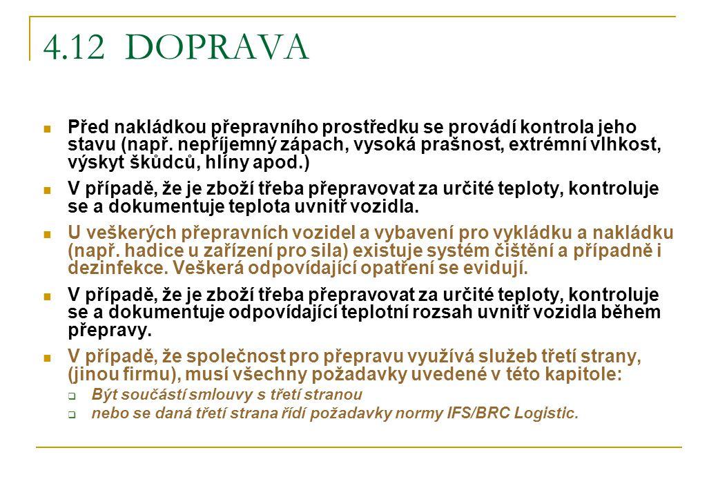4.12 DOPRAVA