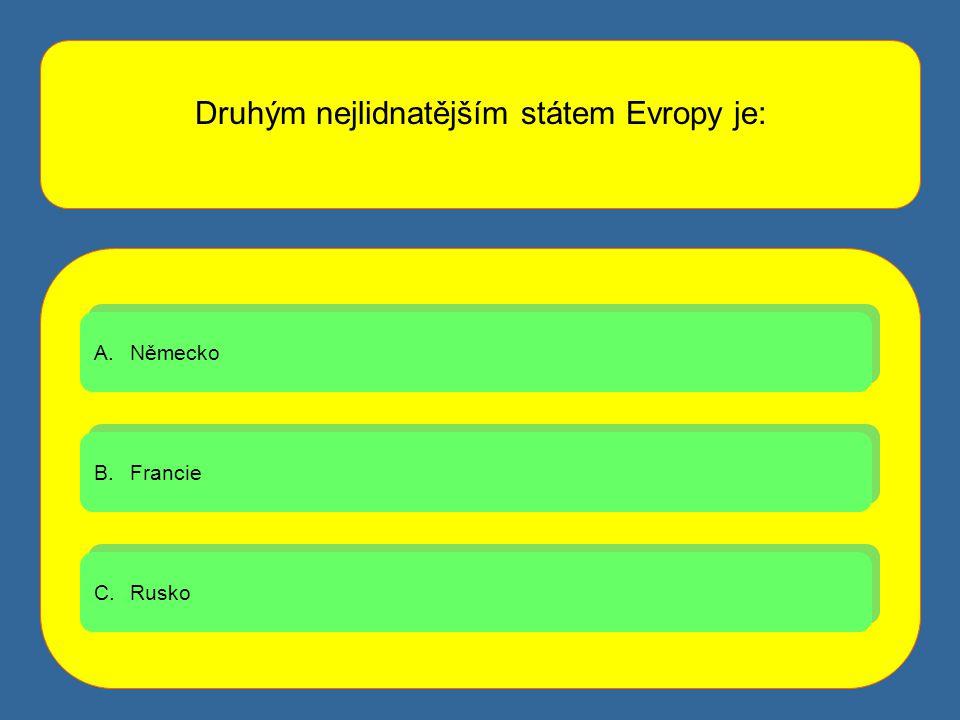 Druhým nejlidnatějším státem Evropy je: