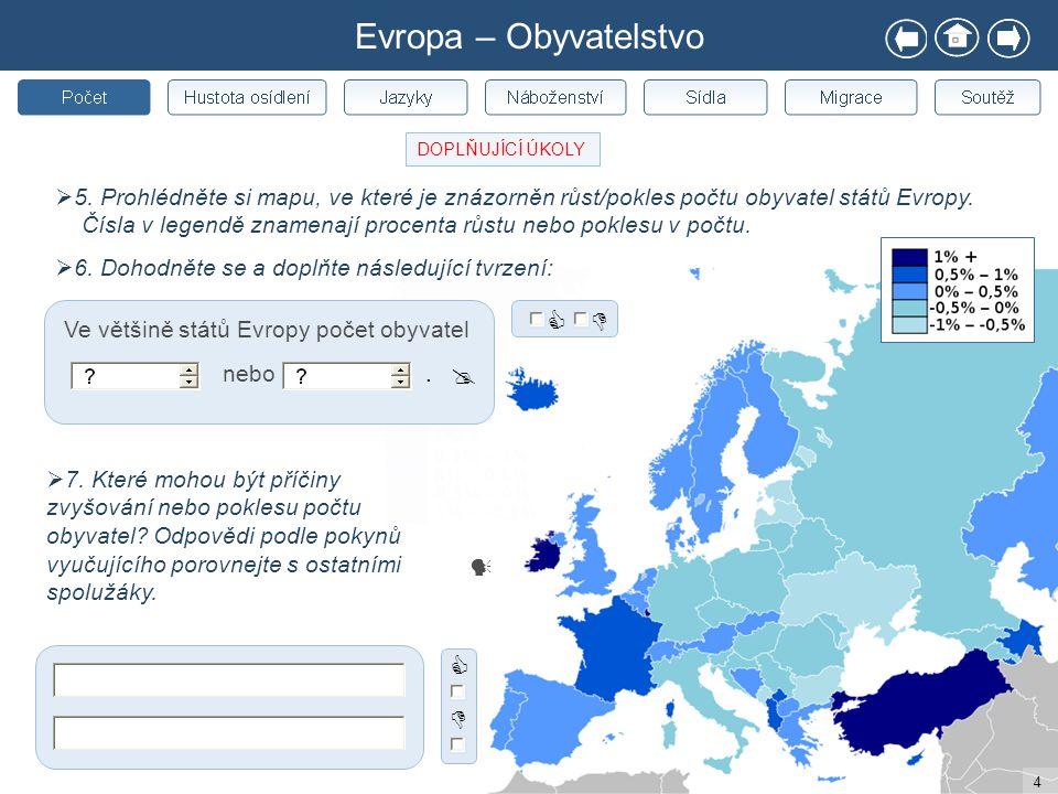 Evropa – Obyvatelstvo     